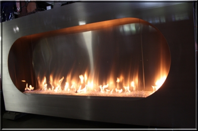 Fire Glass Fireplace