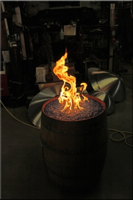 Wine Barrel Fire Pit