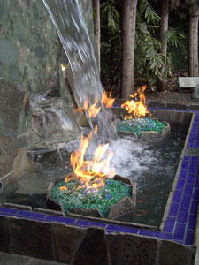 fire and fireglass fountian