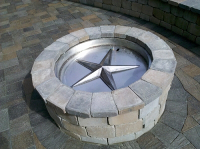 convert wood burning firepit to propane