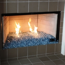 Propane Pan Fireplace install